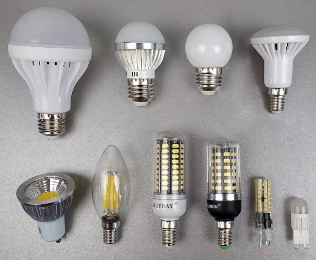 Основные цоколи ламп 1