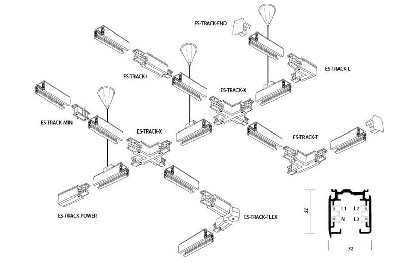 Элементы трековой системы